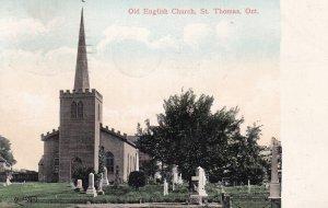 ST. THOMAS, Ontario, Canada, PU-1907; Old English Church