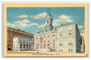 Postcard The City Hall at Portland ME Maine G33 * 2