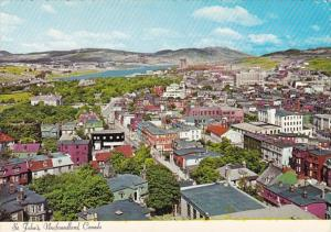 Canada Newfoundland St John's Aerial View Of Downtown