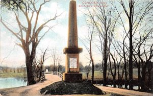 Soldier's Monument Concord, Massachusetts Postcard