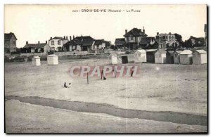 Postcard Old Cross vle vendee Beach