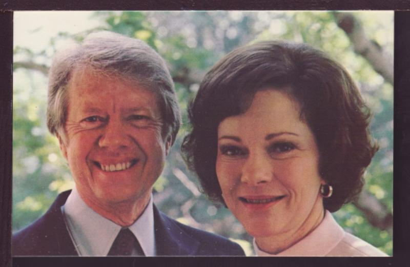 Jimmy Carter and Rosalyn Post Card 3478
