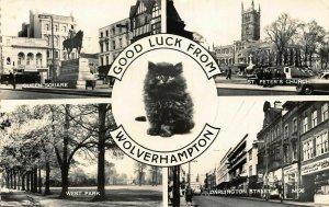 Wolverhampton Queen Square West Park Darlington Street Peter's Church Postcard