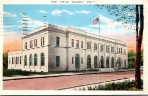Wisconsin Oshkosh Post Office 1938
