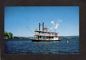 NY Steamer Paddle Wheeler Ship Chautauqua Belle Maryville New York Postcard