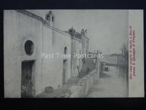 Vésuve Eruzione Del Vesuvio S.Giuseppe Una Casa Coverta Di Lapi c1906 Rare Pc