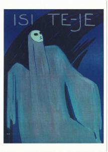 Isi Te-Je by O. Pasetti Person in Mask and Costume Art Postcard