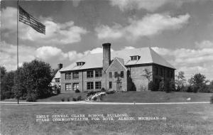 Albion Michigan~Emily Jewell Clark School Building (for Boys)~1950s RPPC