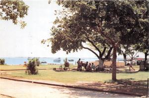 BR27969 Sea Front public gardens Jamhuri tanzania