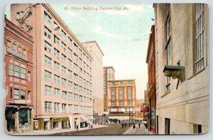 Kansas City MO~Victor Building~Barfield~Manhattan Shirt Co~Razed 1965~1913 PC