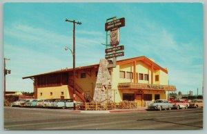 Mesa Arizona~Feed Bag Western Dining Room~Neon Sign~Restaurant~50s Cars~1950s