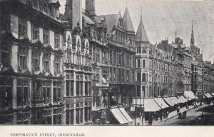 Market Place Oundle Northampton in Victorian Times Old Postcard