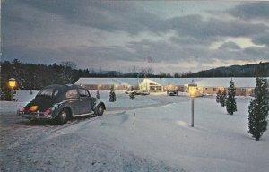 Vermont Stowe Mountaineer Motor Inn Winter Scene 1976 sk5585