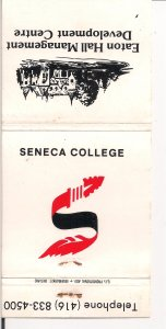 Matchbook Cover ! Seneca College, Toronto !