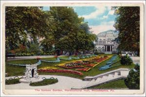 Sunken Garden, Horticultural Hall, Philadelphia PA   (creases)