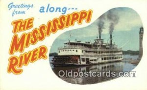 The Glamour Of The Mississippi River Steam Ship Postcard Post Cards The Glamo...