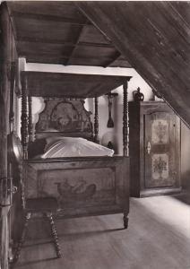 Germany Augsburg Fuggerei Schlafzimmer aus alter Zeit