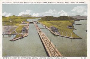 Bird's Eye View of Miraflores Locks, Looking South, Panama Canal, 10-20s