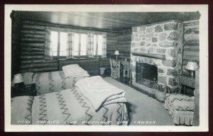 h2175 - PIEDMONT Quebec 1950s Mont Gabriel Club Interior. Real Photo Postcard