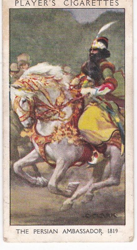 Cigarette Card Player's Dandies No 39 The Persian Ambassador