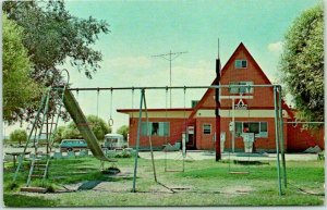 Truth or Consequences, New Mexico Postcard KOA KAMPGROUND A-Frame Office c1960s