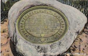 New York Oswego Memorial Rock Site Of Old Fort