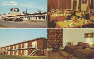 Fort Nelson Motor Hotel Fort Nelson BC Multiview Vintage Postcard D27