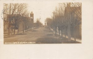 F54/ South Whitley Indiana RPPC Postcard 1907 E. Columbia St Store