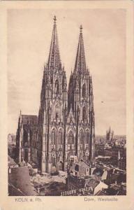 Germany Koeln Dom Westseite 1925