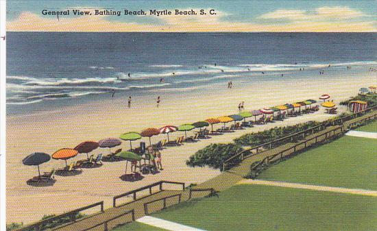 South Carolina Myrtle Beach General View Bathing Beach