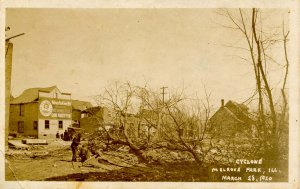 IL - Melrose Park. Cyclone Ruins, March 28, 1920.   RPPC