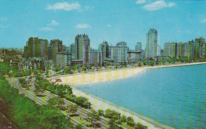 Illinois Chicago Aerial View Of Gold Coast 1956