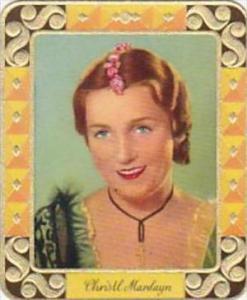 Garbaty Cigarette Card 1934 Modern Beauties No 171 Christl Mardayn