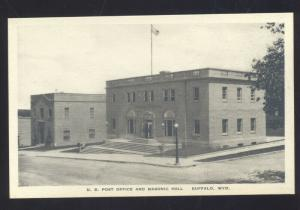 BUFFALO WYOMING UNITED STATES POST OFFICE VINTAGE POSTCARD MASONIC TEMPLE
