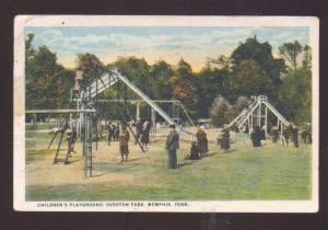 MEMPHIS TENNESSEE OVERTON PARK CHILDRENS PLAYGROUND VINTAGE POSTCARD
