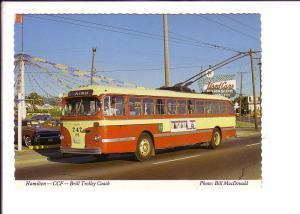 Hamilton Street Railway, CCP Brill Trolley Bus Coach Ontario,