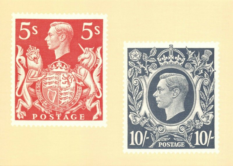 Postcard 1984 Heraldry Exhibition, 1939 KGVI Issues of 1939 5/- 10/- BR3