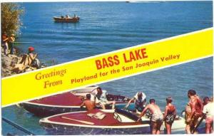 Scenic Greetings from Bass Lake Playland for the San Joaquin Valley, CA, Chrome