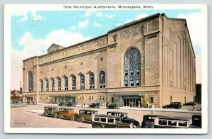 Minneapolis Minnesota~New Municipal Auditorium~Grand Building~1934 Postcard