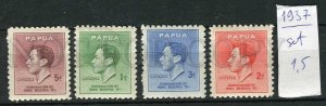265897 Papua New Guinea 1937 year MNH stamps set Coronation