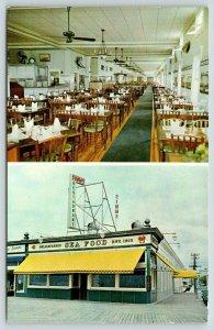 Ocean City NJ~Simms' Restaurant~Delicatessen~Inside & Out~Boardwalk~1960s PC