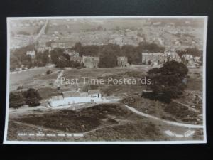 Yorkshire ILKLEY & White Wells from Moors - Old RP Postcard by W. Scott K551