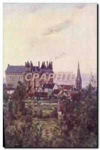 Postcard Old Bourgeois Bords De La Loire Chateau De Langeais