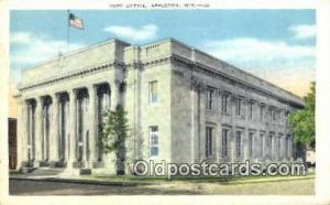Appleton, Wis USA,  Post Office Postcard, Postoffice Post Card Old Vintage An...