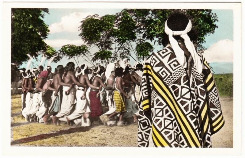 Paraguay Indians Natives Dance 1950s Real Photo Postcard