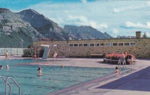 Waterton Lakes Swimming Pool and Waterton Valley,  Waterton Lakes,  Alberta, ...