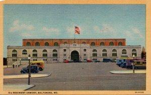 Maryland Baltimore 5th Regiment Armory Curteich