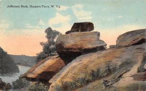 Harpers Ferry West Virginia c1910 Postcard Jefferson Rock