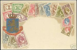 Netherlands, STAMP Postcard, Coat of Arms (ca. 1910)