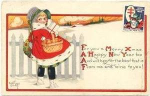 Signed, Girl in Snow w/ Packages, Merry Xmas, 00-10s